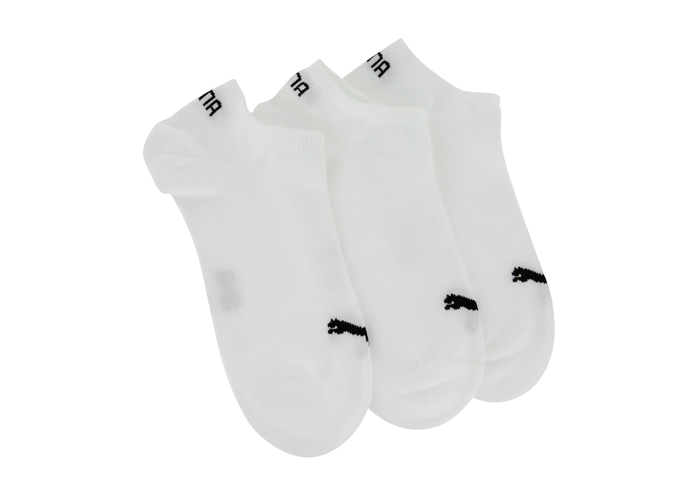 Puma Chaussettes Invisibles 3 Paires Blanches Chaussettes Homme