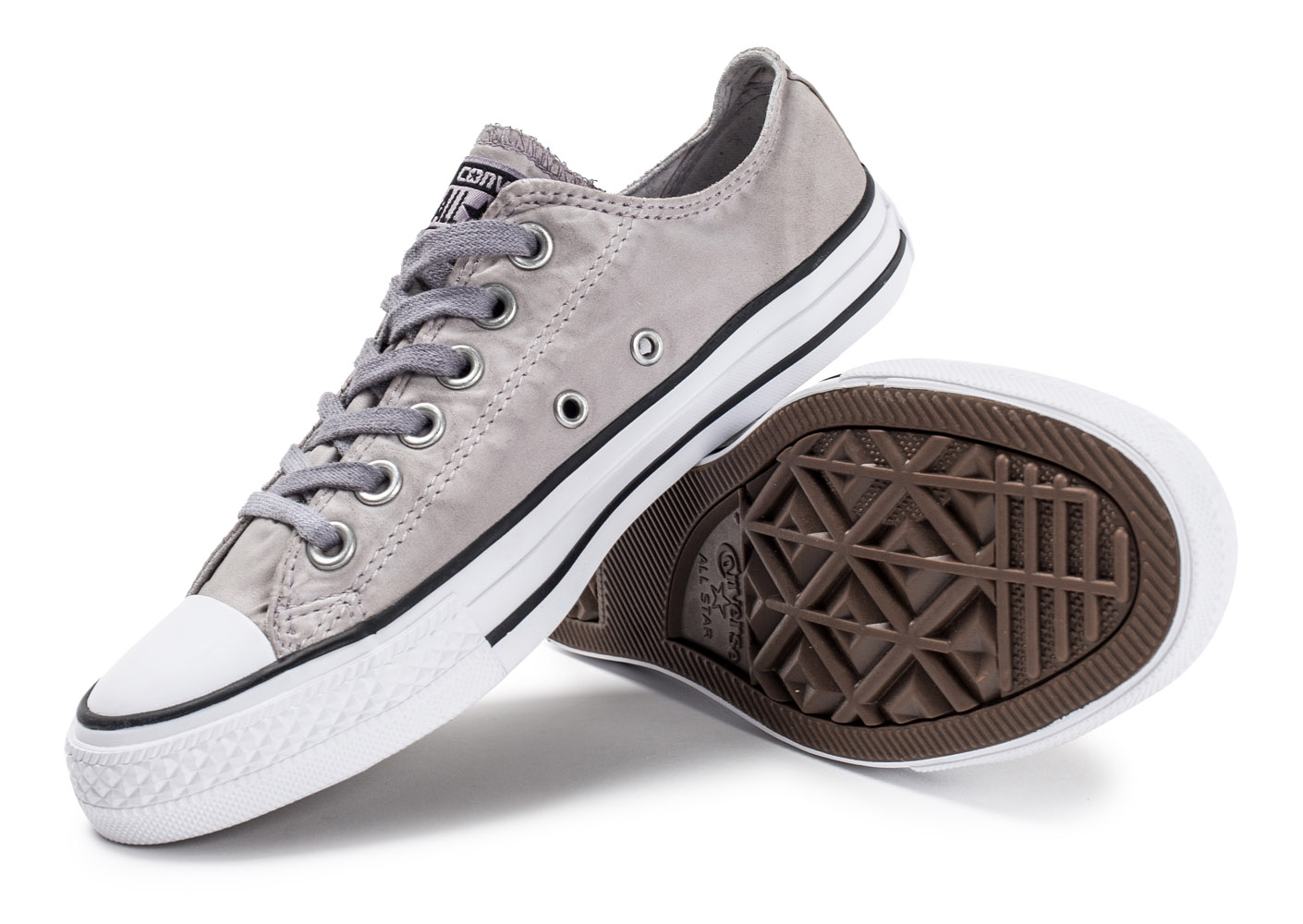 converse chuck taylor all star ox low grise baskets tennis femme. Black Bedroom Furniture Sets. Home Design Ideas