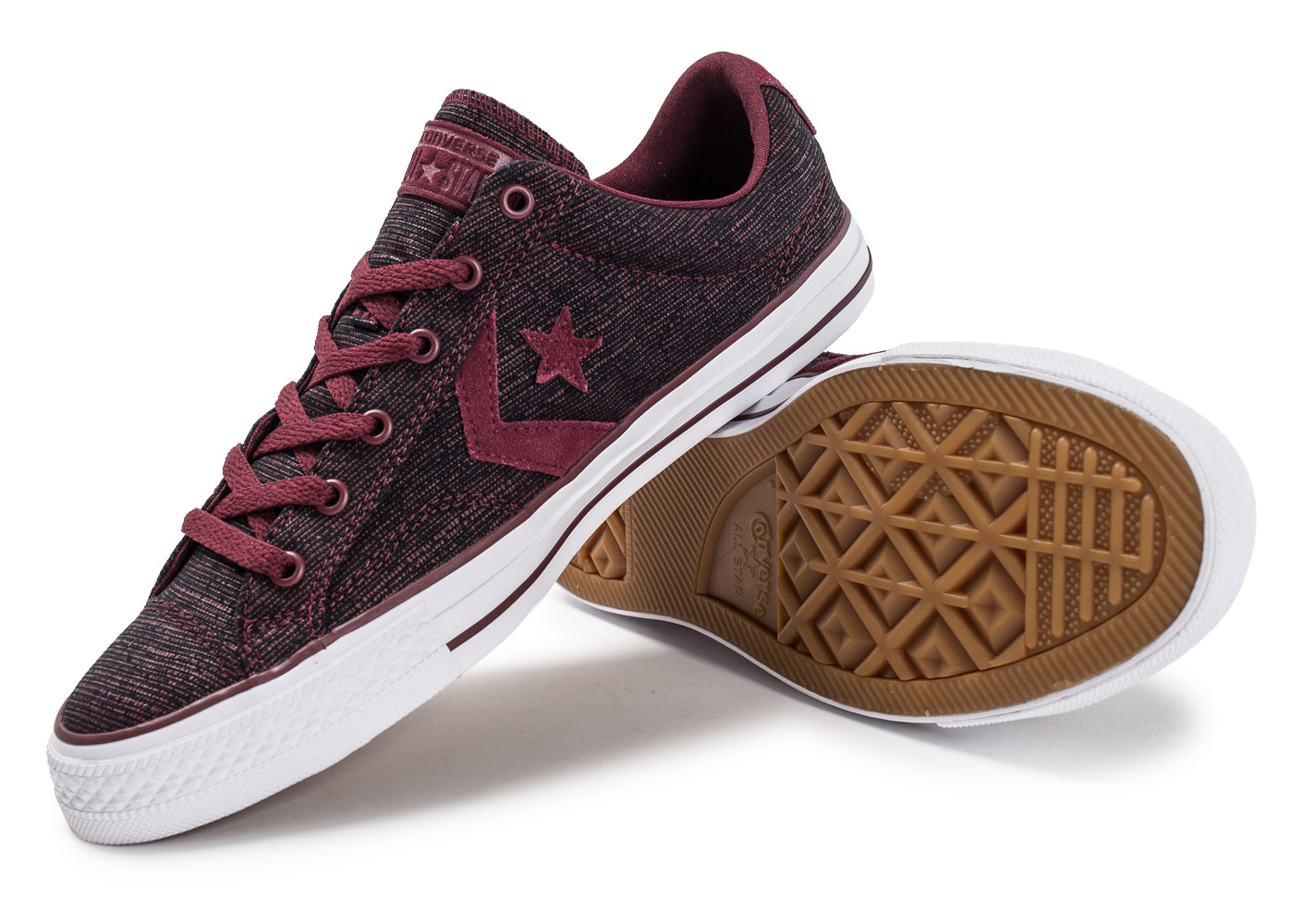converse star player ox bordeaux baskets tennis homme. Black Bedroom Furniture Sets. Home Design Ideas