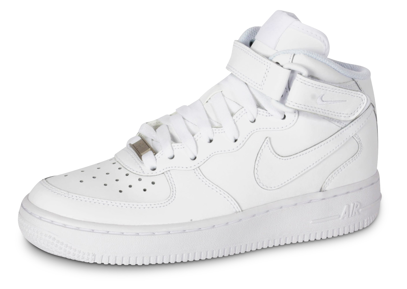 Nike Air Force 1 J Mid Triple Blanc  Baskets Enfant