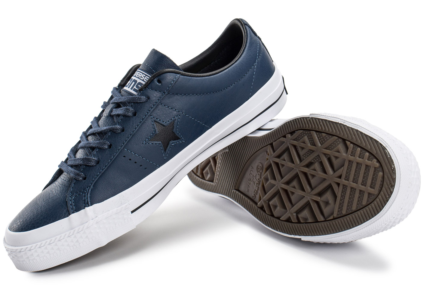 converse one star leather bleu marine baskets tennis homme. Black Bedroom Furniture Sets. Home Design Ideas