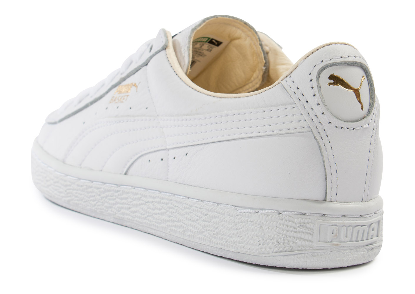 puma basket classic cuir blanche baskets tennis femme achat et vente. Black Bedroom Furniture Sets. Home Design Ideas