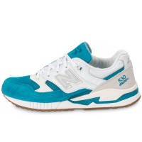 M530 AA Gumsole blanche et turquoise