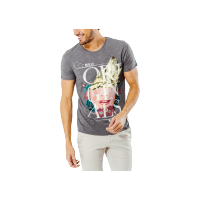 T-Shirt Abstract gris