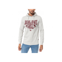 Sweat Break Hood gris et rouge