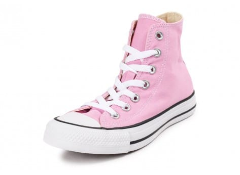 Chaussures Converse Chuck Taylor All Star montante rose vue avant