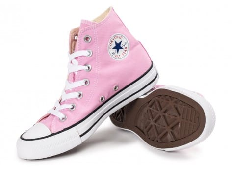 Chaussures Converse Chuck Taylor All Star montante rose vue intérieure