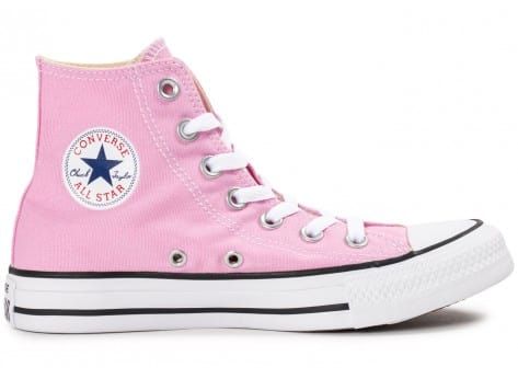Chaussures Converse Chuck Taylor All Star montante rose vue dessous