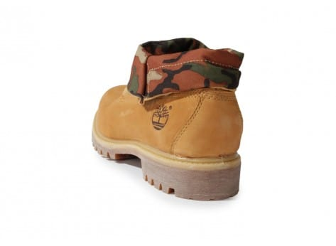 Chaussures Timberland 6-inch Icon Roll-top Camo Beige vue arrière