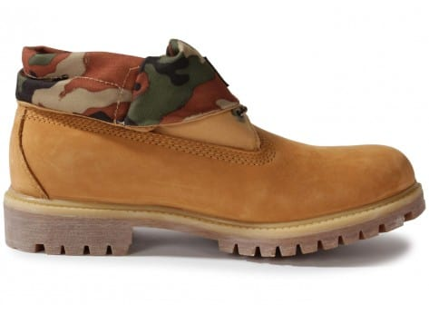 Chaussures Timberland 6-inch Icon Roll-top Camo Beige vue dessous