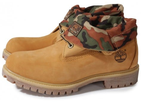 Chaussures Timberland 6-inch Icon Roll-top Camo Beige vue extérieure