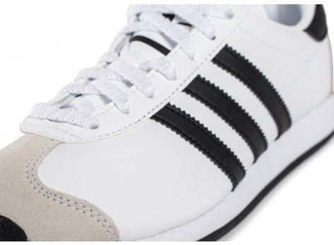 Chaussures adidas Country OG Junior blanche et noire vue dessus