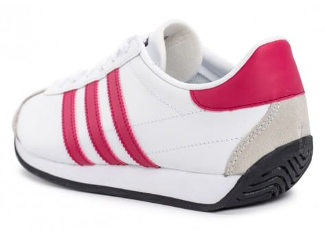 Chaussures adidas Country OG Junior blanche et rose vue arrière