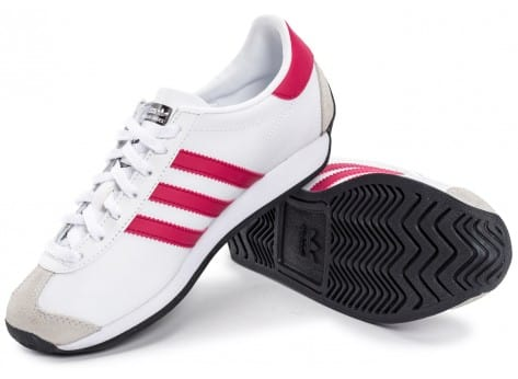 Chaussures adidas Country OG Junior blanche et rose vue intérieure