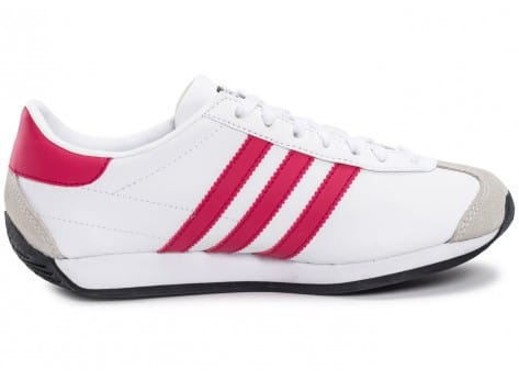 Chaussures adidas Country OG Junior blanche et rose vue dessous