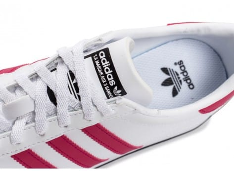 Chaussures adidas Country OG Junior blanche et rose vue dessus