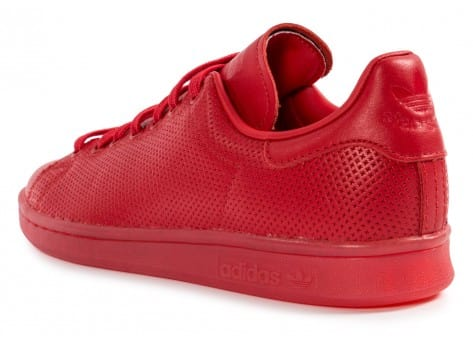 Chaussures adidas Stan Smith Adicolor W rouge vue dessous