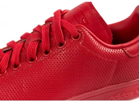 Chaussures adidas Stan Smith Adicolor W rouge vue dessus