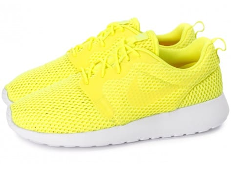 Chaussures Nike Roshe One Hyperfuse BR Jaune vue extérieure