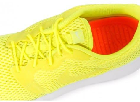 Chaussures Nike Roshe One Hyperfuse BR Jaune vue dessus