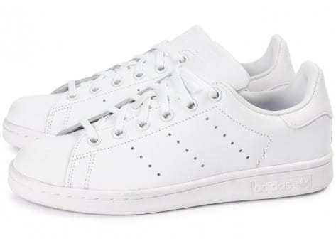 Chaussures adidas Stan Smith Junior blanche vue extérieure