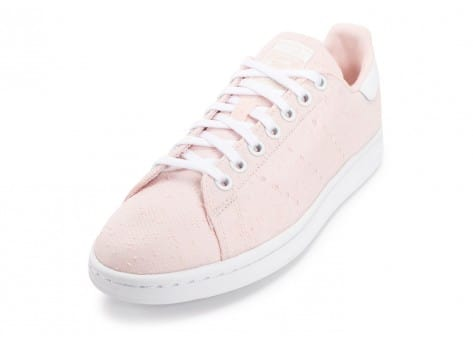 Chaussures adidas Stan Smith Textile Junior rose vue avant