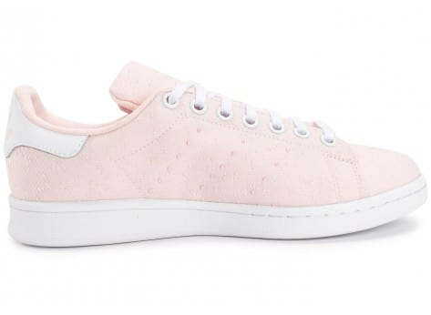 Chaussures adidas Stan Smith Textile Junior rose vue dessous
