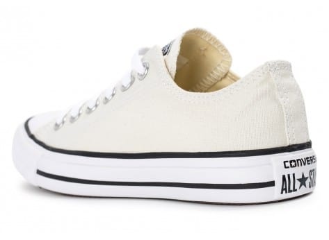 Chaussures Converse Chuck Taylor All Star low beige vue avant