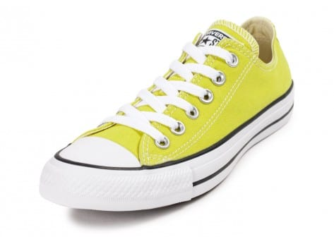 Chaussures Converse Chuck Taylor All Star low verte vue avant
