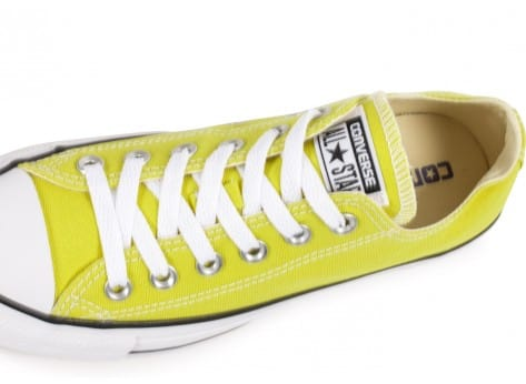 Chaussures Converse Chuck Taylor All Star low verte vue dessus