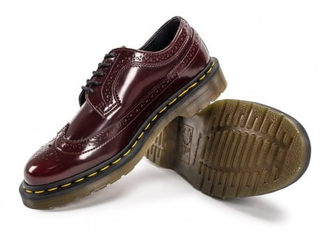 Chaussures Dr Martens 3989 WingTip Cherry Red vue avant