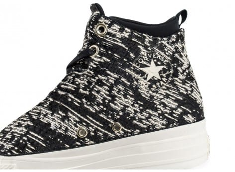 Chaussures Converse All-Star Selene Winter Knit noire vue dessus