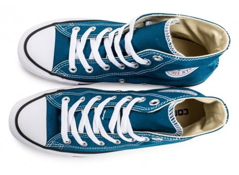Chaussures Converse Chuck Taylor All-Star Mid bleue vue arrière