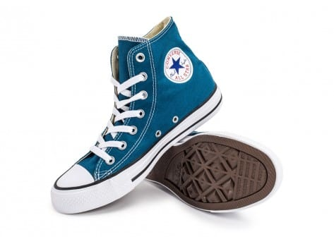 Chaussures Converse Chuck Taylor All-Star Mid bleue vue avant
