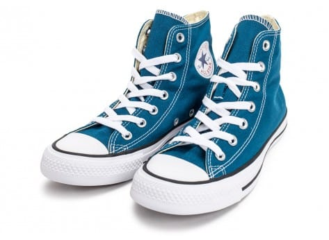 Chaussures Converse Chuck Taylor All-Star Mid bleue vue intérieure