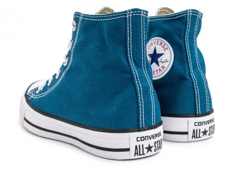 Chaussures Converse Chuck Taylor All-Star Mid bleue vue dessous
