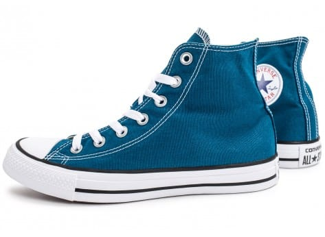 Chaussures Converse Chuck Taylor All-Star Mid bleue vue extérieure