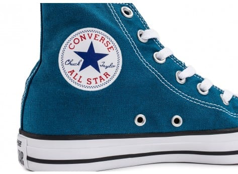 Chaussures Converse Chuck Taylor All-Star Mid bleue vue dessus