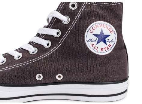 Chaussures Converse Chuck Taylor All-Star Mid grise vue dessus