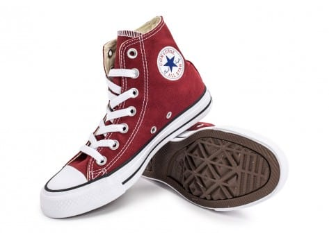 Chaussures Converse Chuck Taylor All-Star Mid bordeaux vue avant
