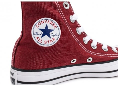 Chaussures Converse Chuck Taylor All-Star Mid bordeaux vue dessus