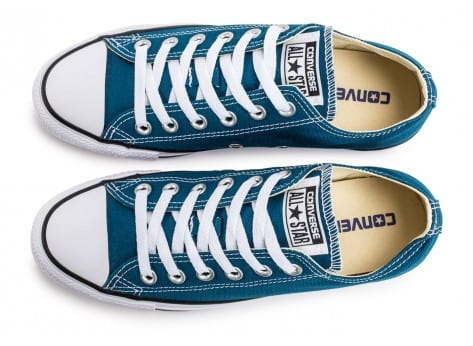 Chaussures Converse Chuck Taylor All-Star Low OX bleue vue arrière