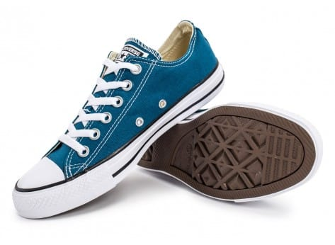 Chaussures Converse Chuck Taylor All-Star Low OX bleue vue avant