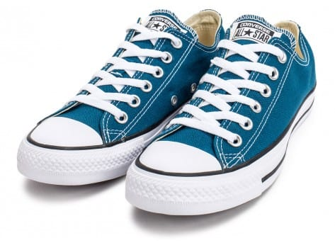 Chaussures Converse Chuck Taylor All-Star Low OX bleue vue intérieure