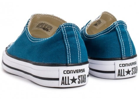 Chaussures Converse Chuck Taylor All-Star Low OX bleue vue dessous