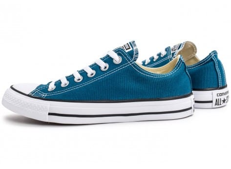 Chaussures Converse Chuck Taylor All-Star Low OX bleue vue extérieure
