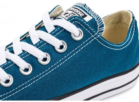 Chaussures Converse Chuck Taylor All-Star Low OX bleue vue dessus