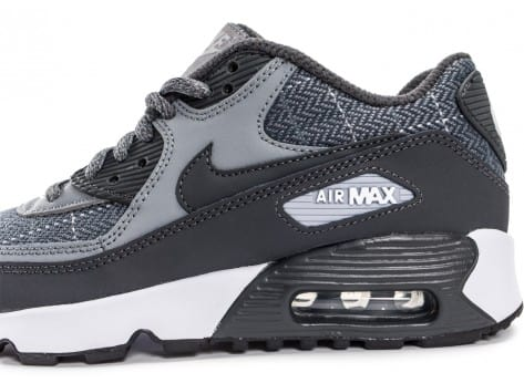 Chaussures Nike Air Max 90 SE Wool grise vue dessus