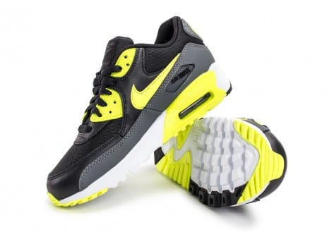 Chaussures Nike Air Max 90 Mesh Junior black volt vue avant