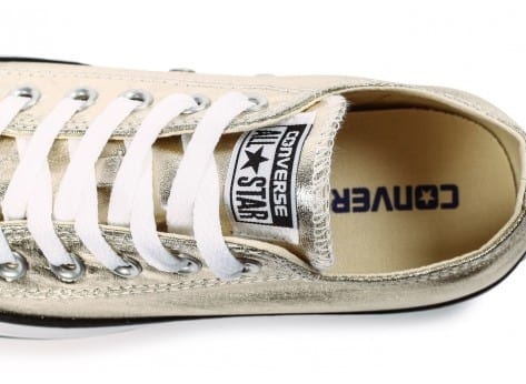 Chaussures Converse Chuck Taylor All Star OX Seasonal Metallic low dorée vue dessus